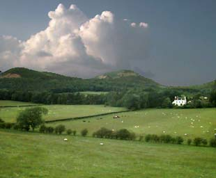 Eildon Hills from the South East